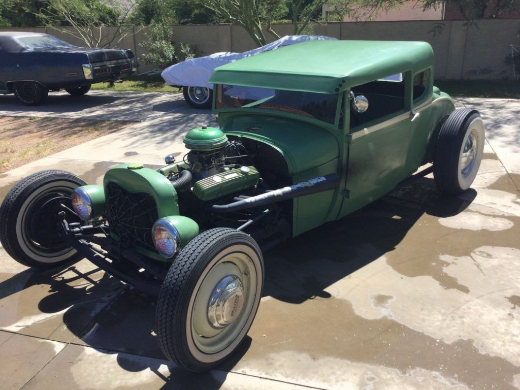 converted to coupe 1928 Ford Model A hot rod