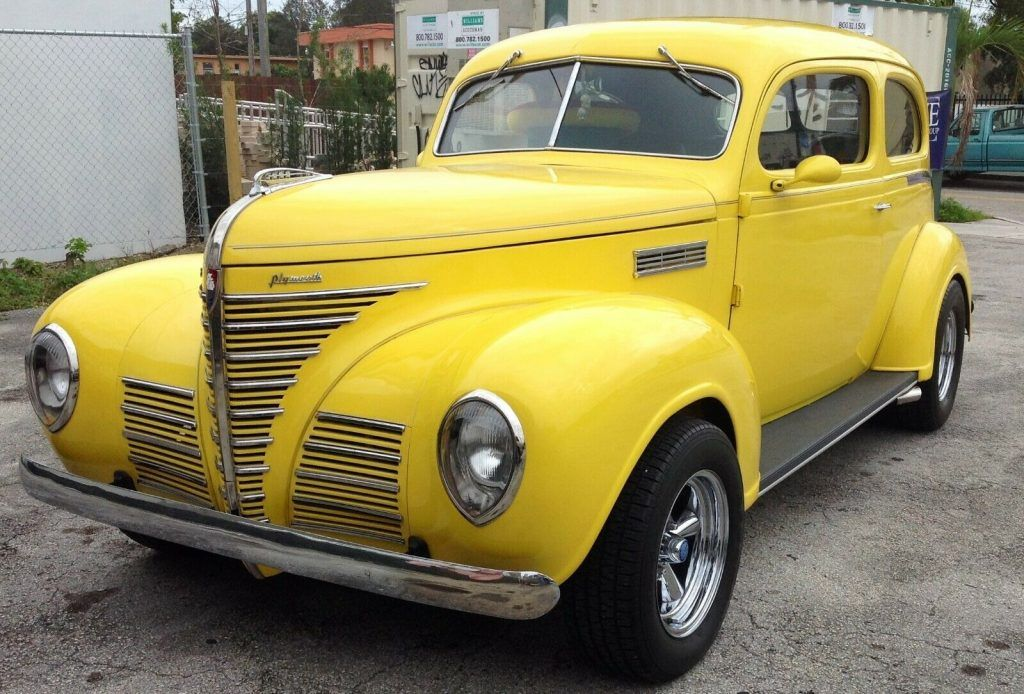 restored 1939 Plymouth hot rod