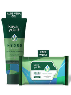 Hydrating Light Aloe Vera Gel + Gentle Cleansing Wipes