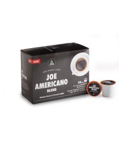 Cafe Joe Keurig Compatible, Joe Americano, Single Serve Coffee Cups (24 Capsules)