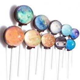 Galaxy Lollipops by Sparko Sweets