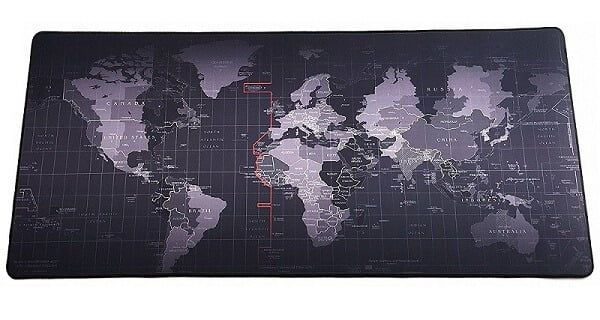 Giant World Map Mouse Pad