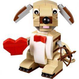 LEGO Valentines Cupid Dog