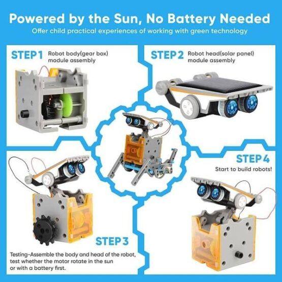 Sillbird STEM 12-in-1 Education Solar Robot Toy