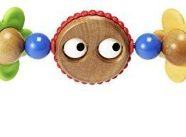 BabyBjörn Wooden Toy for Bouncer – Googly eyes