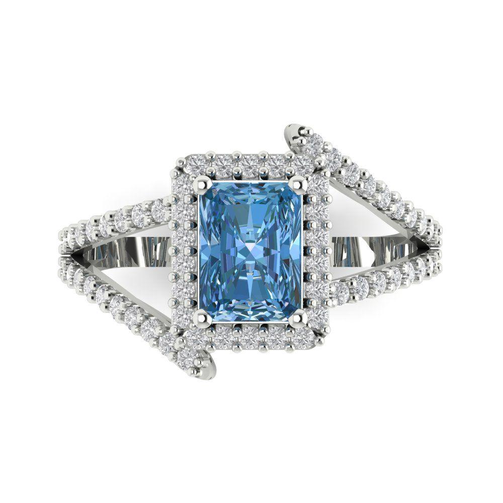 YELLOW GOLD CRISS-Cross Aquamarine Rope And Diamonds Designer Ring