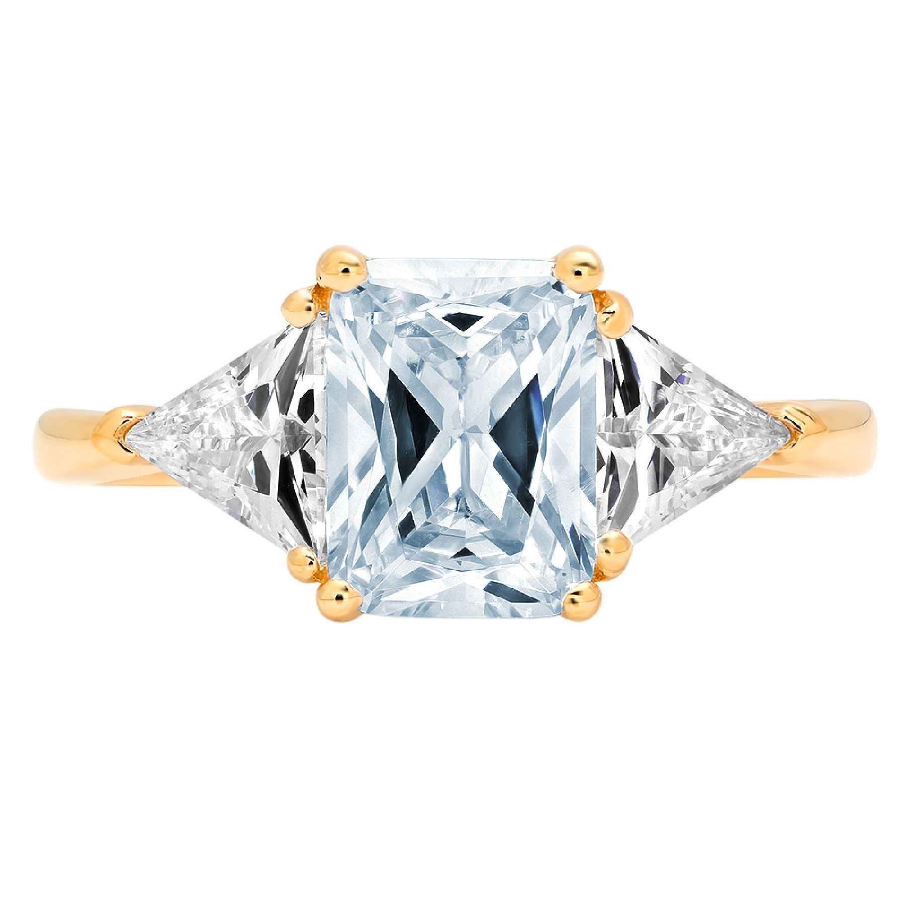 3.0 ct Round Cut Natural Sky Blue Topaz Classic Wedding Engagement Bridal Promise Designer Statement Ring Solid 14k White Gold