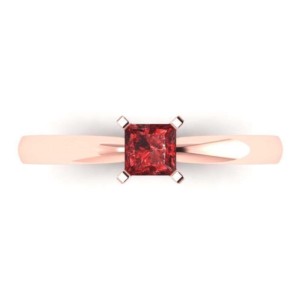 Details about  /1.0 ct Radiant Cut Natural Red Garnet Wedding Bridal Promise Ring 14k Rose Gold