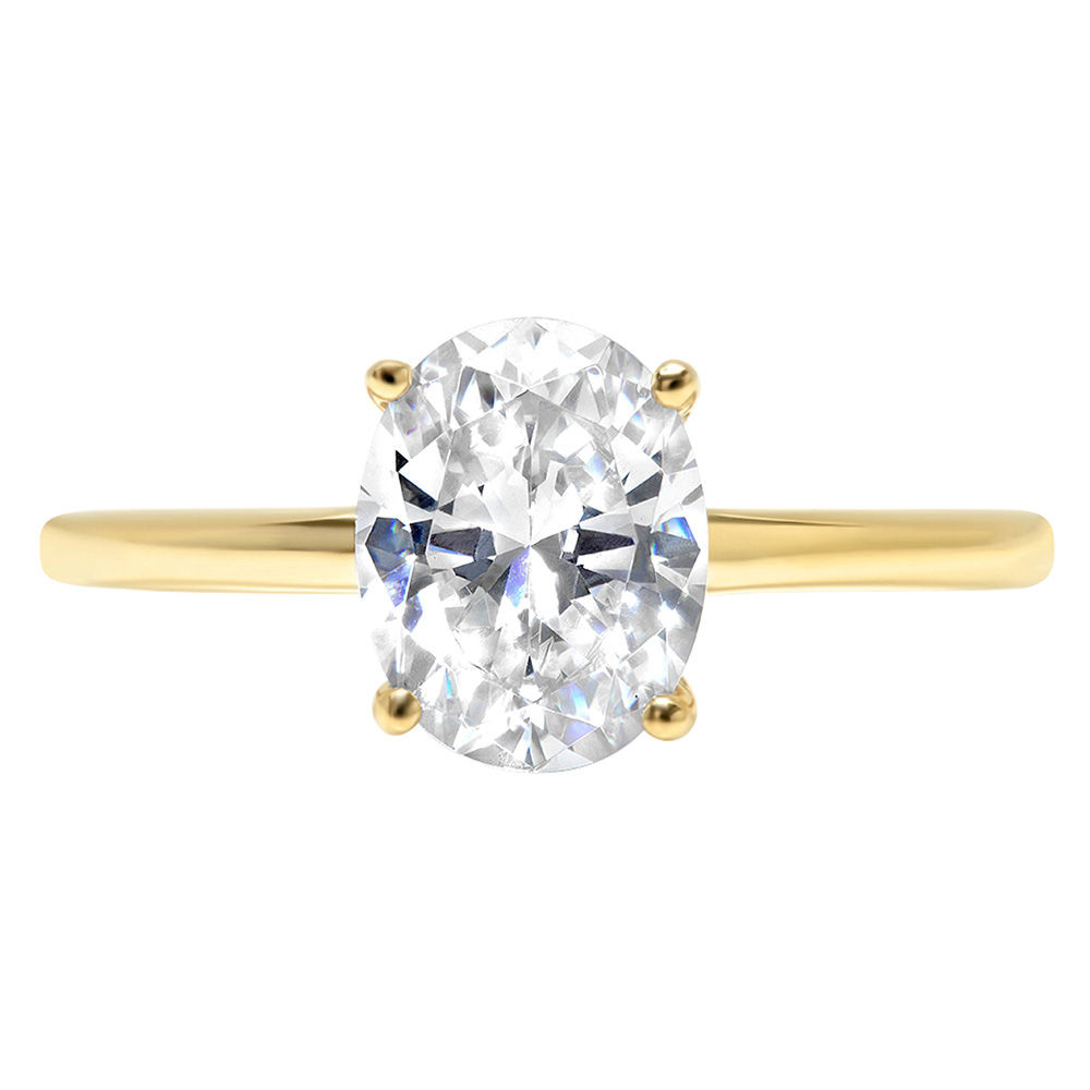 2ct Pear Cut White Sapphire Wedding Bridal Promise Designer Ring 14k White Gold