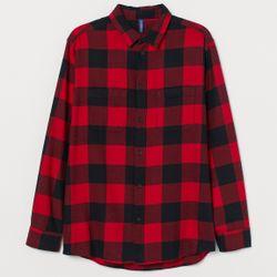 Flannel Merah
