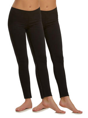 cotton modal leggings color-black