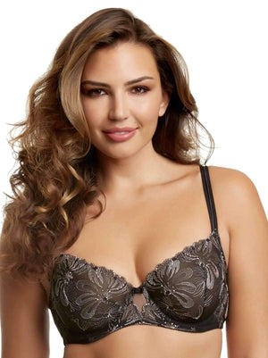 Paramour by Felina Ellie Demi Unlined Bra color-black