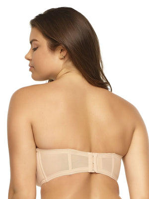 Paramour by Felina Marvelous Strapless Contour Bra back shot color-warm neutral