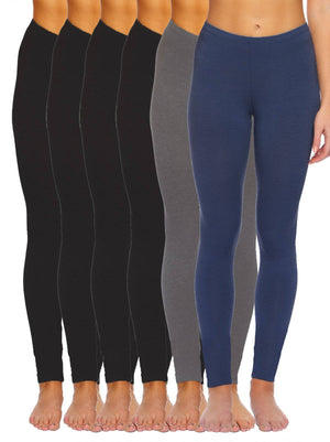 velvety soft leggings color-black grey navy