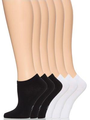 no show socks color-black white