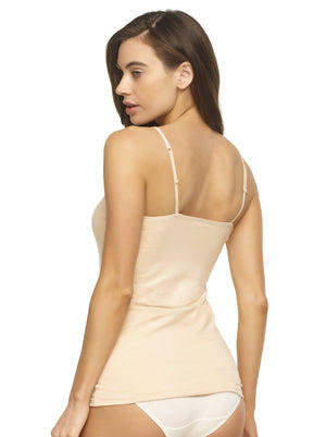 organic cotton camisole color-wheat