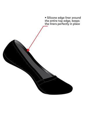 no show 4 pack liner socks color-black warm nude