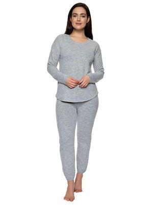 Felina Comfyz™ Coco Women's 2 Piece Lounge Set color-gray heather speckle