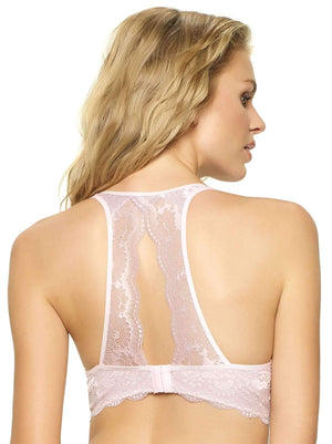 Felina Heather Lace Bralette 2-Pack color-white barely pink