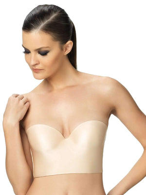Felina Essentials Longline Strapless Bra color-bare