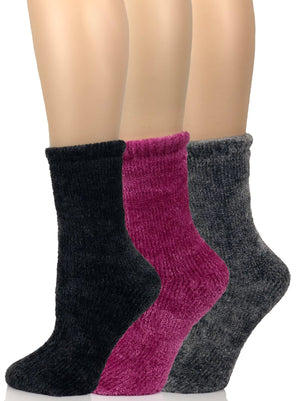 chenille socks color-fuchsia shade