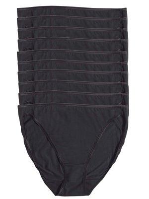 So Smooth Hi Cut Panty 10 pack color-black black