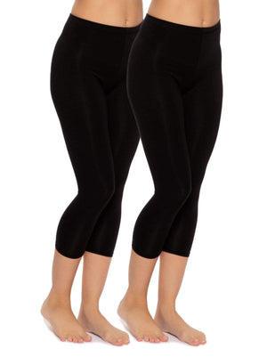 cotton modal capri legging color-black/black