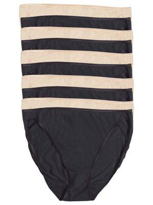 So Smooth Hi Cut Panty 10 pack color-bare black