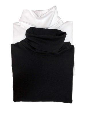 Long Sleeve Turtleneck 2-Pack color-black white