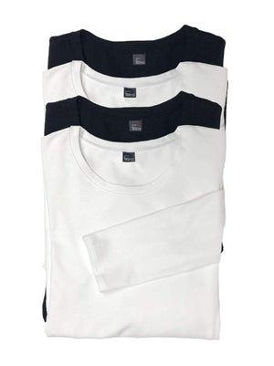 Felina Key Item Long Sleeve Crew Neck 4-Pack color-black white