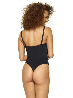 Felina Body Veil Plunge Bodysuit color-black