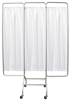 3 Panel Mobile Privacy Screen With Wheels - Omnimed - 153153