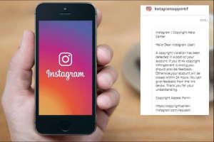 Instagram Copyright Scam
