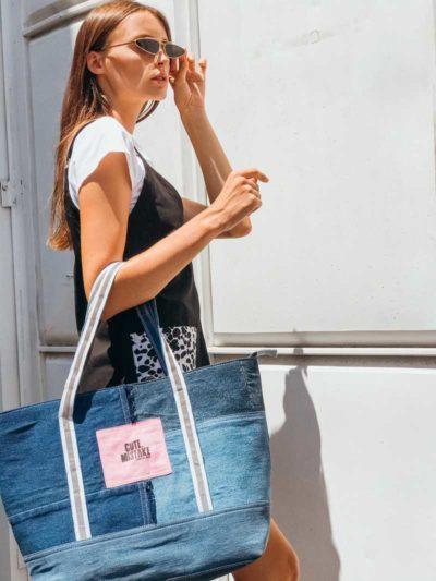 Denim Shopper Bag
