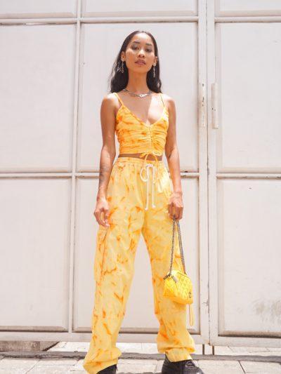 Get It Poppin' Cargo Pants – Orange Soda