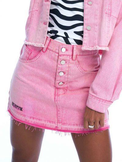 Bad Dream Denim Skirt – Powder Pink