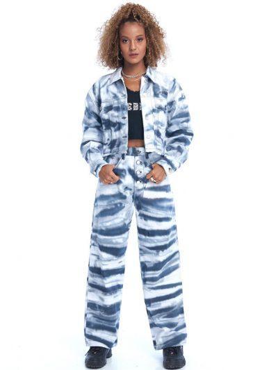 Boy Problem Baggy Jeans – Tie Dye Black