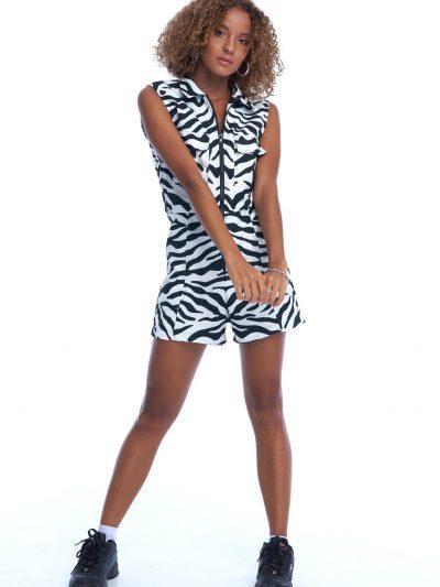 Shade Playsuit – Black Zebra
