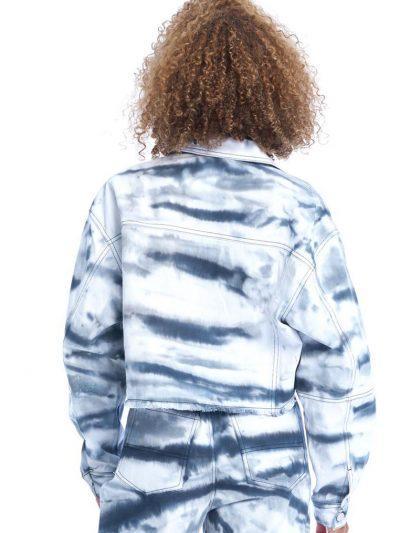 Link Up Denim Jacket – Tie Dye Black