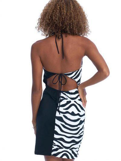 Savage Mini Dress – Black Zebra