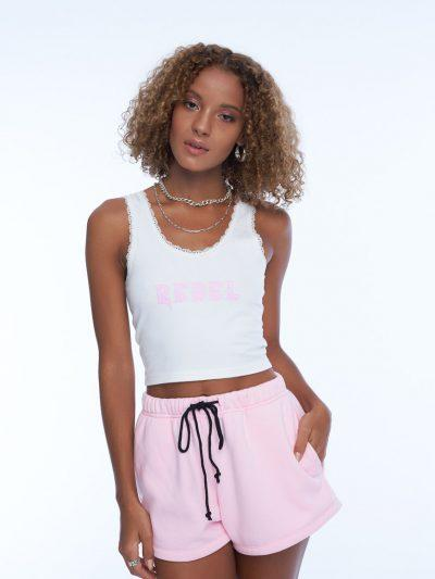 Smile or Lie Booty Shorts – Pink