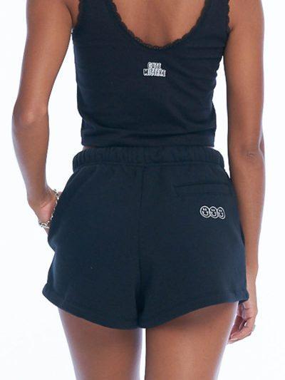 Smile or Lie Booty Shorts – Black