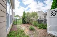 Fenced garden space