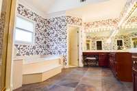 Water closet, separate shower, and tub