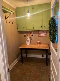 Storage area just off kitchen