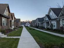 Example of what the front of home will look like facing the other homes. * This is NOT in Groves Reserve.