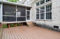 Expansive private rear deck and screened deck