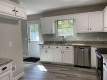 Bright kitchen with plenty of cabinets