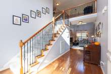 Great staircase with Wrought Iron Balusters