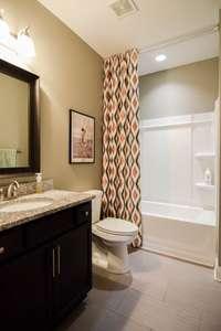 Great full bath on main level, shower/tub combo
